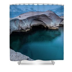 Sarakiniko Shower Curtain