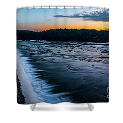 Savannah Rapids Sunrise - Augusta Ga Shower Curtain