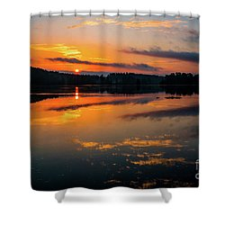 Savannah River Sunrise - Augusta Ga 2 Shower Curtain