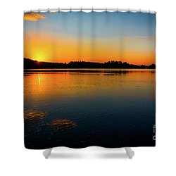 Savannah River Sunrise - Augusta Ga Shower Curtain
