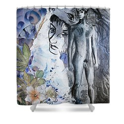 Shower Curtain featuring the painting Savior Of Squirrels   by Rene Capone