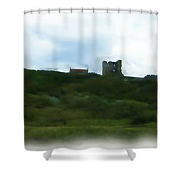 Scarborough Castle Painting Shower Curtain