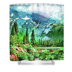 Scenic Mountain Lake Shower Curtain