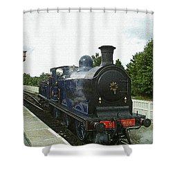 Scotland. Aviemore. Strathspey Railway. Shower Curtain