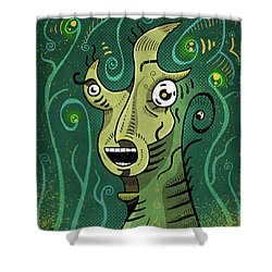 Shower Curtain featuring the digital art Scream by Sotuland Art