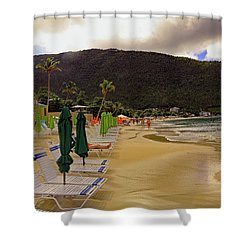 Shower Curtain featuring the photograph Sea And Sand by Tony Murtagh