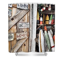 Sea Shack Plates And Buoys Shower Curtain