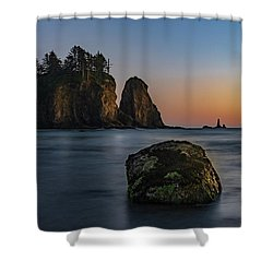 Shower Curtain featuring the photograph Sea Stacks At La Push by Ed Clark