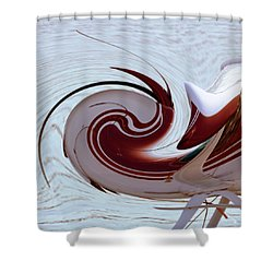 Seaplane Wave Shower Curtain