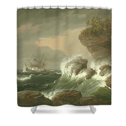 Seascape, 1835 Shower Curtain
