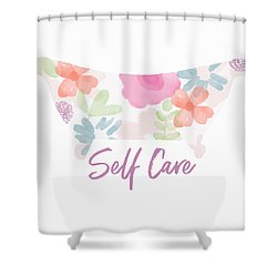 Shower Curtain featuring the mixed media Self Care- Art By Linda Woods by Linda Woods
