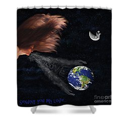 Sending You My Love Shower Curtain
