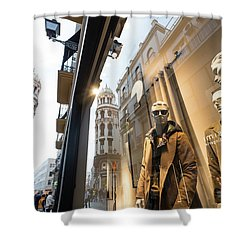 Shower Curtain featuring the photograph Sevilla Streets by Alex Lapidus