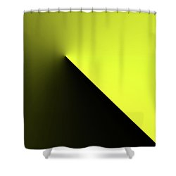 Shower Curtain featuring the digital art Shades Of Yellow In Rotational Gradient by Bill Swartwout Fine Art Photography