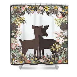Shadowbox Deer Shower Curtain