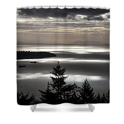 Shadowed Cloud Shower Curtain