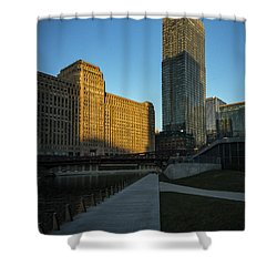 Shadows Of The City Shower Curtain