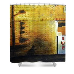 Shadows On The Wall Shower Curtain