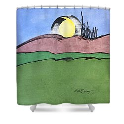 Shine On, Harvest Moon Shower Curtain