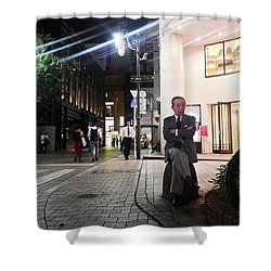 Shinjuku Man Shower Curtain