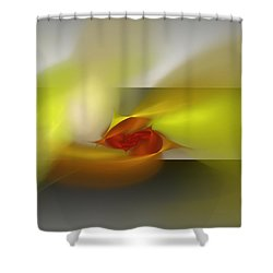 Signals Through The Flames Shower Curtain