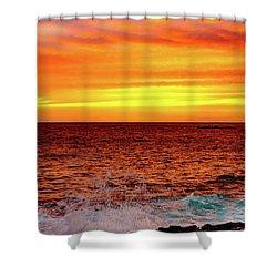 Simple Warm Splash Shower Curtain