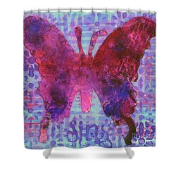 Sing Butterfly Shower Curtain