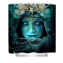 Sister Green Eyes Shower Curtain