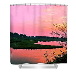 Shower Curtain featuring the photograph Sitka Sedge Sunset by Chriss Pagani