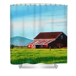 Skagit Valley Barn Shower Curtain