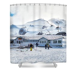 Shower Curtain featuring the photograph Ski Center On Top Of The Bayo Hill by Eduardo Jose Accorinti