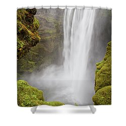 Shower Curtain featuring the photograph Skogafoss Iceland by Nathan Bush