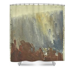 Skogklaedd Fjaellvaegg I Hoestdimma- Mountain Side In Autumn Mist, Saelen _1237, Up To 90x120 Cm Shower Curtain