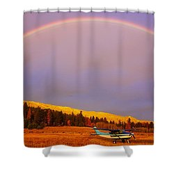 Skylane Rainbow Shower Curtain