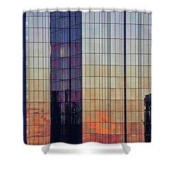 Skyscraper Sunset Shower Curtain
