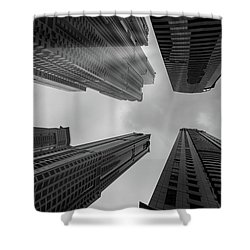 Skyscrapers Reach The Heaven Shower Curtain