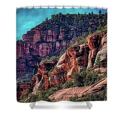 Slide Rock State Park Arizona Shower Curtain