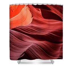 Slot Canyon Waves 2 Shower Curtain