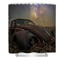Shower Curtain featuring the photograph Slug Bug 'rust' by Aaron J Groen