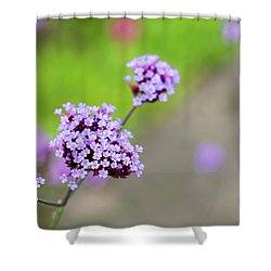 Shower Curtain featuring the photograph Small Purple Flowers by Scott Lyons