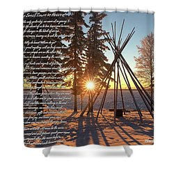 Small Town In Heaven Shower Curtain
