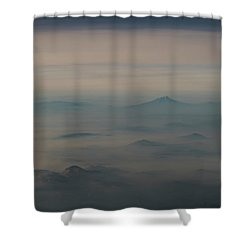 Shower Curtain featuring the photograph Smoke From A Distant Fire by Alex Lapidus
