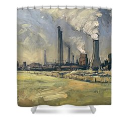 Smoke Stacks Prins Maurits Mine Shower Curtain