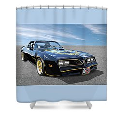 Smokey And The Bandit Trans Am Shower Curtain