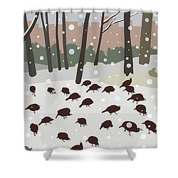Snow Day In Hopkinton Shower Curtain