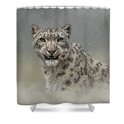Snow Ghost Shower Curtain