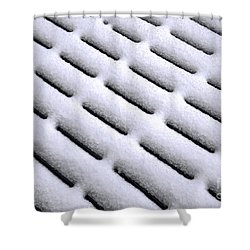 Shower Curtain featuring the photograph Snow Patterns by Jon Burch Photography