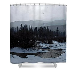 Shower Curtain featuring the photograph Snow Squall by Dan Miller