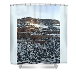 Snow Steps Shower Curtain