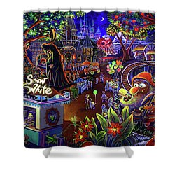 Snow White Amusement Park Shower Curtain